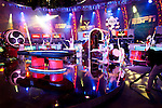 Cirque du Soleil drummers perform on the ESPN Final Table stage