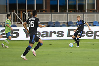 SAN JOSE, CA - OCTOBER 18: Jackson Yueill #14 of the San Jose Earthquakes during a game between Seattle Sounders FC and San Jose Earthquakes at Earthquakes Stadium on October 18, 2020 in San Jose, California.