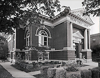 Receiving a $10,000 grant from the Carnegie Foundation in 1905, the new Delphi Library began construction that same year.  A complete history of this fabulous library can be found at the library's website.  http://www.delphilibrary.org/index.php?page=history
