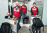 Chris Williamson and Kirk Schornstein, Sochi 2014.<br /> Team Canada arrives at the airport in Sochi for the Sochi 2014 Paralympic Winter // Équipe Canada arrive à l'aéroport de Sotchi pour Sochi 2014 Jeux paralympiques d'hiver. 02/03/2014.