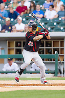 Daniel Ortiz (39) of the Rochester Red Wings at bat against the Charlotte Knights at BB&T Ballpark on June 5, 2014 in Charlotte, North Carolina.  The Knights defeated the Red Wings 7-6.  (Brian Westerholt/Four Seam Images)