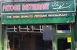 Exterior, Patogh Restaurant, London, city, England, UK, United Kingdom, Great Britain, Europe, European