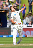 NZ's Trent Boult bowls during day three of the International Test Cricket match between the New Zealand Black Caps and India at the Basin Reserve in Wellington, New Zealand on Sunday, 23 February 2020. Photo: Dave Lintott / lintottphoto.co.nz