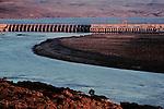 Priest Rapids Dam; Grant County; Hanford Reach; Columbia River; Washington State; Columbia Basin, Pacific Northwest, USA