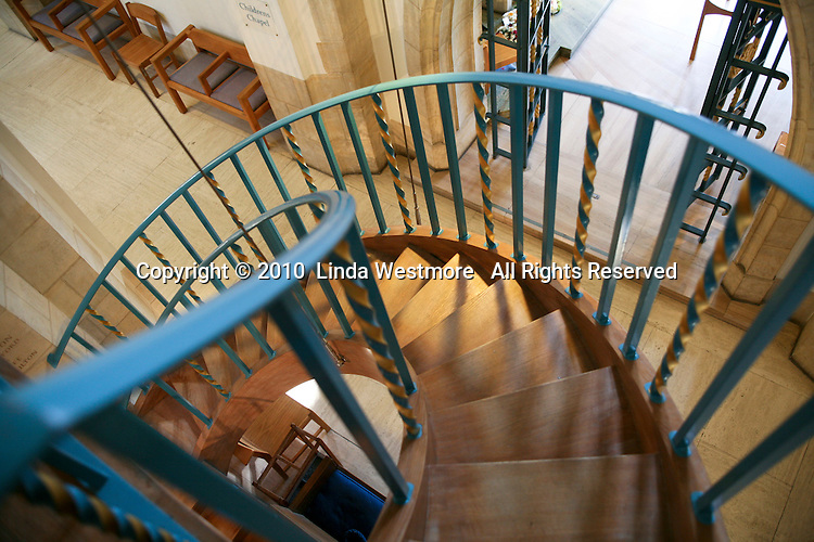 Spiral staircase up to the organ, Guildford Cathedral.