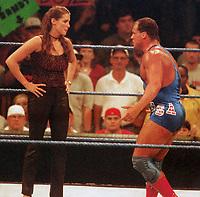 Stephanie McMahon Kurt Angle 1999                                                        Photo By John Barrett/PHOTOlink