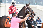 March 20, 2021: Midnight Bourbon in the  Louisiana Derby at Fair Grounds Race Course in New Orleans, Louisiana. Parker Waters/Eclipse Sportswire/CSM