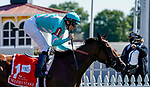 October 3, 2020: Fluffy Socks #1, ridden by jockey Trevor McCarthy, wins the Selima Stakes during Preakness Stakes Day at Pimlico Race Course in Baltimore, Maryland. Scott Serio/Eclipse Sportswire/CSM