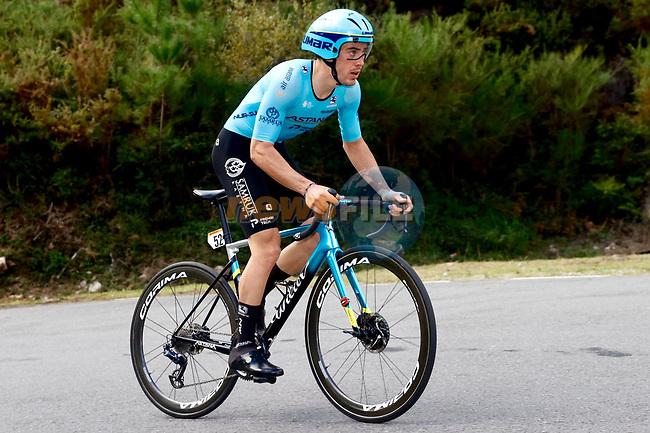 Alex Aranburu Deba (ESP) Astana Pro Team climbs during Stage 13 of the Vuelta Espana 2020 an individual time trial running 33.7km from Muros to Mirador de Ézaro. Dumbría, Spain. 3rd November 2020. <br /> Picture: Luis Angel Gomez/PhotoSportGomez | Cyclefile<br /> <br /> All photos usage must carry mandatory copyright credit (© Cyclefile | Luis Angel Gomez/PhotoSportGomez)