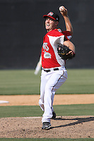 Brad Boxberger #31 of the Carolina Mudcats pitching during a game against the Chattanooga Lookouts on May 22, 2011 at Five County Stadium in Zebulon, North Carolina. Photo by Robert Gurganus/Four Seam Images.