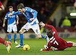 Aberdeen v St Johnstone…10.12.16     Pittodrie    SPFL<br />Murray Davidson is fouled by Kenny McLean<br />Picture by Graeme Hart.<br />Copyright Perthshire Picture Agency<br />Tel: 01738 623350  Mobile: 07990 594431