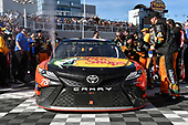 2017 Monster Energy NASCAR Cup Series - Kobalt 400<br /> Las Vegas Motor Speedway - Las Vegas, NV USA<br /> Sunday 12 March 2017<br /> Martin Truex Jr, Bass Pro Shops/TRACKER BOATS Toyota Camry celebrates his win in Victory Lane<br /> World Copyright: Nigel Kinrade/LAT Images<br /> ref: Digital Image 17LAS1nk07460