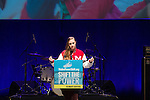 Helen Winston, a 16 year old pipeline fighter from Nebraska, gives a keynote speech at Powershift. Over six thousand young people from all over the country are converging in Pittsburgh, PA for Power Shift 2013, a massive training dedicated to bringing about a safe planet and a just future for all people. (Photo by: Robert van Waarden)