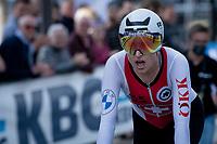Marlen Reusser (SUI/Alé BTC Ljubljana) after finishing 2nd<br /> <br /> Women Elite Individual Time Trial from Knokke-Heist to Bruges (30.3 km)<br /> <br /> UCI Road World Championships - Flanders Belgium 2021<br /> <br /> ©kramon