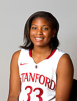 Amber Orrange with the Stanford Women's basketball team photo. Photo taken on Wednesday, October 2, 2013