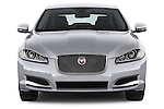 Car photography straight front view of a 2015 Jaguar XF 2.2D 163 auto 4 Door Sedan 2WD Front View