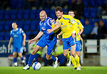 St Johnstone v Queen of the South...21.09.10  CIS Cup 3rd Round.Sam Parkin and David Lilley.Picture by Graeme Hart..Copyright Perthshire Picture Agency.Tel: 01738 623350  Mobile: 07990 594431