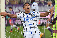 Alexis Sanchez of FC Internazionale reacts during the Italy Cup round of 16 football match between ACF Fiorentina and FC Internazionale at Artemio Franchi stadium in Firenze (Italy), January 13th, 2021. Photo Andrea Staccioli / Insidefoto