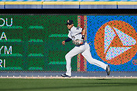 Scranton/Wilkes-Barre RailRiders right fielder Mason Williams (9) during a game against the Pawtucket Red Sox on May 15, 2017 at PNC Field in Moosic, Pennsylvania.  Scranton defeated Pawtucket 8-4.  (Mike Janes/Four Seam Images)