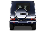 Straight rear view of 2013 Mercedes-Benz G-Class G550 SUV Stock Photo