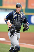 June 28th 2008:  Chris Stewart of the Scranton Wilkes-Barre Yankees, Class-AAA affiliate of the New York Yankees, during a game at Dunn Tire Park in Buffalo, NY.  Photo by:  Mike Janes/Four Seam Images