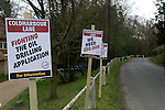 Coldharbour Surrey UK. Surrey Hills local protest at proposed oil drilling. 2012, 2010s, UK
