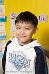 Elementary School New York Grade 2 closeup portrait of boy vertical