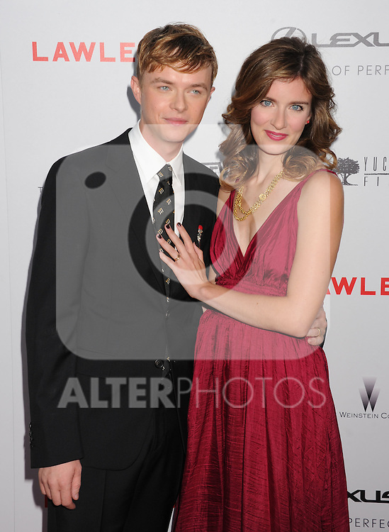 HOLLYWOOD, CA - AUGUST 22: Dane DeHaan and Anna Wood arrive at the 'Lawless' Los Angeles Premiere at ArcLight Cinemas on August 22, 2012 in Hollywood, California. /NortePhoto.com....**CREDITO*OBLIGATORIO** *No*Venta*A*Terceros*..*No*Sale*So*third* ***No*Se*Permite*Hacer Archivo***No*Sale*So*third*