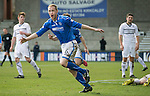 Raith Rovers v St Johnstone....08.03.14    Scottish Cup Quarter Final<br /> Steven Anderson celebrates his goal<br /> Picture by Graeme Hart.<br /> Copyright Perthshire Picture Agency<br /> Tel: 01738 623350  Mobile: 07990 594431