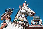 road ,side ,shrine, temple,color,horizontal,india sky,