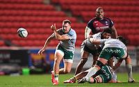 8th September 2020; Ashton Gate Stadium, Bristol, England; Premiership Rugby Union, Bristol Bears versus Northampton Saints; Tom James of Northampton Saints passes from the base of the ruck