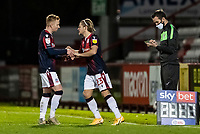 Bolton Wanderers' Lloyd Isgrove (centre) comes on to replace Ali Crawford  <br /> <br /> Photographer Andrew Kearns/CameraSport<br /> <br /> The EFL Sky Bet League Two - Stevenage v Bolton Wanderers - Saturday 21st November 2020 - Lamex Stadium - Stevenage<br /> <br /> World Copyright © 2020 CameraSport. All rights reserved. 43 Linden Ave. Countesthorpe. Leicester. England. LE8 5PG - Tel: +44 (0) 116 277 4147 - admin@camerasport.com - www.camerasport.com