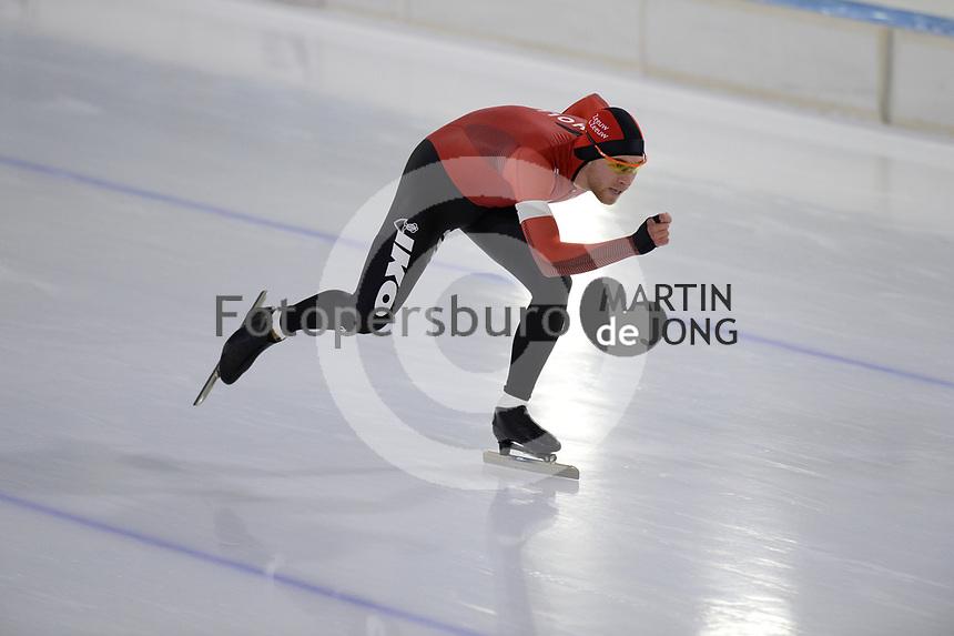 SCHAATSEN: HEERENVEEN: 10-10-2020, KNSB Trainingswedstrijd, Louis Hollaar, ©foto Martin de Jong