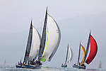 Boats in action during the final race on the last day of the 2010 China Cup International Regatta.