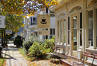 Cranbury, New Jersey.   Quaint shops and houses in the Old Historic District