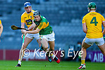 Shane Conway, Kerry in action against Keelan Molloy, Antrim during the Joe McDonagh Cup Final match between Kerry and Antrim at Croke Park in Dublin.
