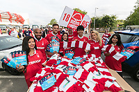 The promotional team from Betright gave away boxloads of scarves