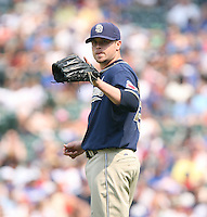 Cla Meredith of the San Diego Padres vs. the Chicago Cubs: June 18th, 2007 at Wrigley Field in Chicago, IL.  Photo By Mike Janes/Four Seam Images