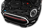 Car stock 2017 Mini Cooper John Cooper Works 2 Door Convertible engine high angle detail view