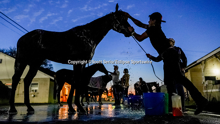 April 27, 2021: Scenes from around the track as horses prepare for the Kentucky Derby and Kentucky Oaks at Churchill Downs  Scott Serio/Eclipse Sportswire/CSM