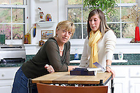 {November 7, 2009} 11:23:52 AM -- Fredericksburg, VA. -- Jody Williams, a Nobel Peace prize winner for her work in eradicating land mines, left, has pulled together a cookbook with recipes from other Nobel laureates and people who have worked for peace. She did the work in combination with her stepdaughter Emily Goose, right, as part of Emily's high school senior project.  ... -- ...Photo by Andrew B. Shurtleff, Freelance.