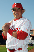 Feb 20, 2009; Clearwater, FL, USA; The Philadelphia Phillies catcher Carlos Ruiz (51) during photoday at Bright House Field. Mandatory Credit: Tomasso De Rosa/ Four Seam Images
