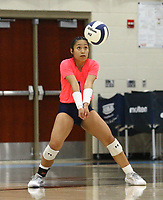 Caylan Koons (1) bumps ball against Southside on Tuesday, October 12, 2021, during play at Wildcat Arena, Springdale. Visit nwaonline.com/211013Daily/ for today's photo gallery.<br /> (Special to the NWA Democrat-Gazette/David Beach)