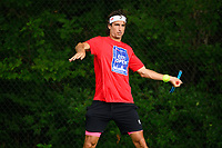 WASHINGTON, DC - AUGUST 1: Feliciano Lopez (ESP) practices ahead of the 2021 Citi Open at Rock Creek Park Tennis Center on August 1, 2021 in Washington, DC.