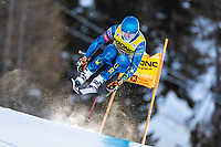 26th December 2020; Stelvio, Bormio, Italy; FIS World Cup Mens Downhill;   Ryan Cochran Siegle of the USA during his 1st training run for the mens downhill race of FIS ski alpine world cup at the Stelvio