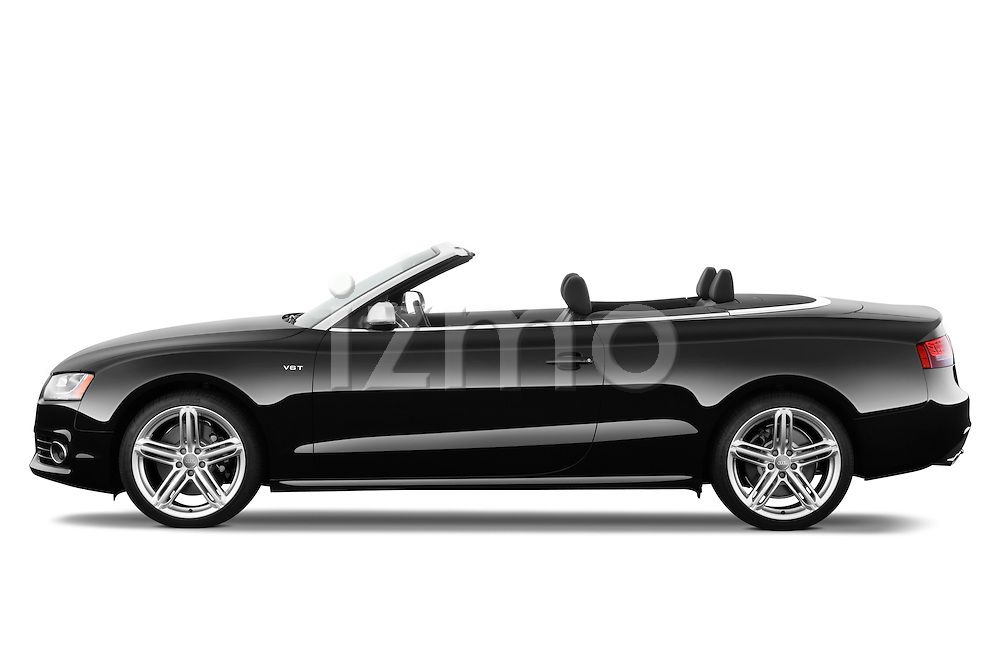 Driver side profile view of a 2010 - 2011 Audi S5 Cabriolet