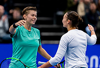 Alphen aan den Rijn, Netherlands, December 16, 2018, Tennispark Nieuwe Sloot, Ned. Loterij NK Tennis, Womans doubles winners: Demi Schuurs (NED) (L) and Lesley Kerkhove (NED) celebrate <br /> Photo: Tennisimages/Henk Koster
