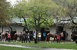 Rainy day at Keeneland Race Course.   October 06, 2013.