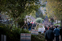 big crowds heading home down the infamous Koppenberg after the last race of the day<br /> <br /> Koppenbergcross / Belgium 2017