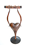 Title: Thorny Heart<br /> Materials: Copper and Rose Thorns<br /> Size: 15Tx6x3<br /> Price: Available on Request